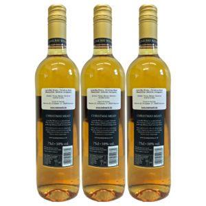 Glühmet Christmas Mead Rueckseite 3 Flaschen | Heisser Honigwein