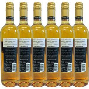 Glühmet Christmas Mead Rueckseite 6 Flaschen | Heisser Honigwein