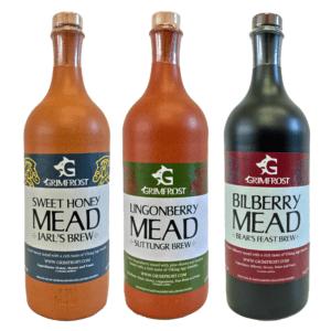 Grimfrost Mead Set | Met Honigwein Set mit drei Flaschen Schwedischer Met