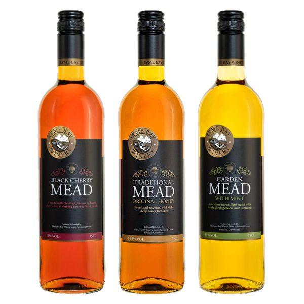 Met Triple aus Devon - 3 verschiedene Sorten Honigwein