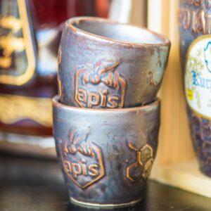 Apis Metbecher | Trinkbecher aus Ton Keramik