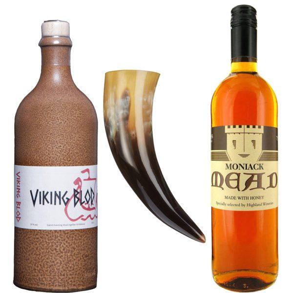 Nordisches Met Set | Dansk Mjod Viking Blod Wikingerblut | Moniack Mead aus Schottland