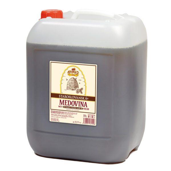 Apimed Old Slavic Mead Dark im 10 Liter Kanister   Met aus Waldhonig   Honigwein aus der Slowakei