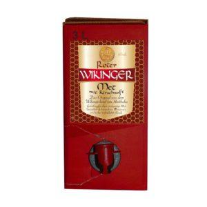 Roter Wikinger Met | Wikingeblut | Honigwein mit Kirsche | im 3 Liter bag in box