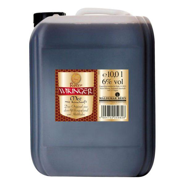 Roter Wikingermet im 10 Liter Kanister   Wikingerblut   Honigwein mit Kirschsaft