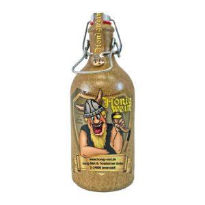 Honig Met Honigwein in Tonflasche lieblich