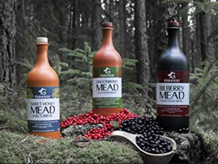 Grimfrost Met Set aus Schweden | Sweet Honey Mead | Lingonberry Mead | Bilberry Mead